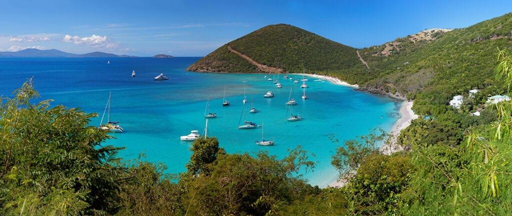 Scenic view of British Virgin Islands
