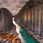 Studlagil basalt canyon - Iceland