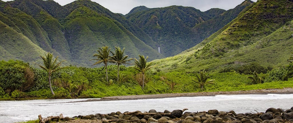 Molokai mountain view, Hawaii