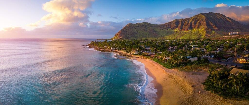 West coast of Oahu, area of Papaoneone beach. Hawaii, USA