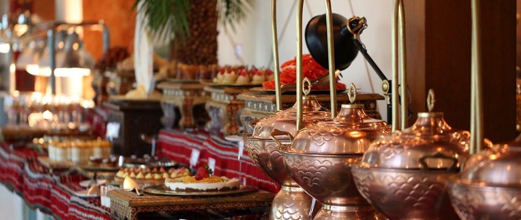 Ramadan iftar buffet table setup
