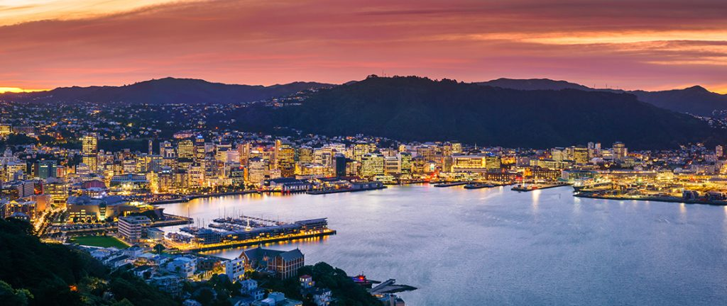 Wellington city and harbour from Mount Victoria - New Zealand