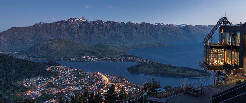 Queenstown at dusk - New Zealand