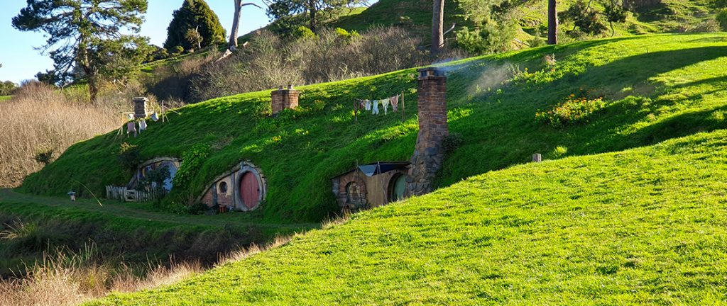 Movie Set created for filming The Lord of the Rings and The Hobbit movies